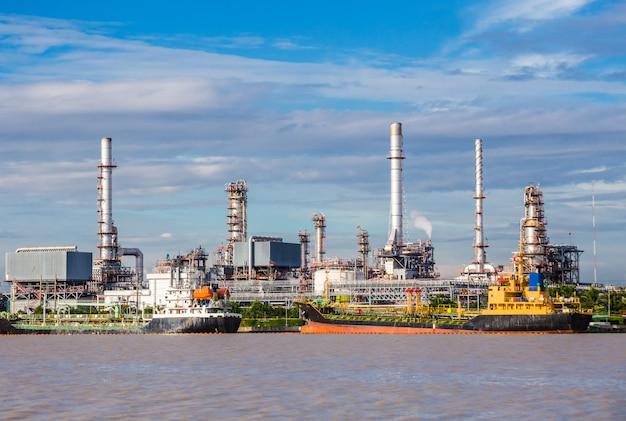 Erdölindustrie-raffineriefabrik, erdöl, petrochemische anlage.