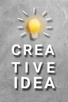 Erfolgreiche geschäftsidee und kreatives innovationskonzept