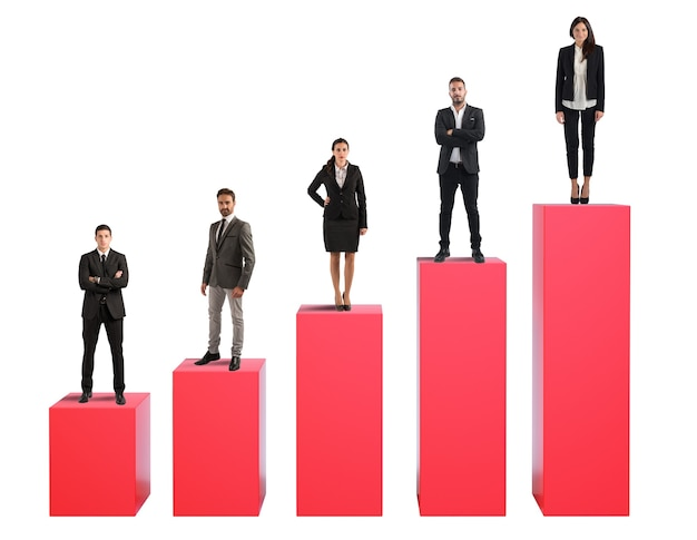 Erfolgreiche team-business-kooperation für das unternehmen