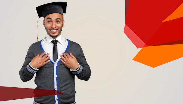 Erfolgreicher junger schwarzer student