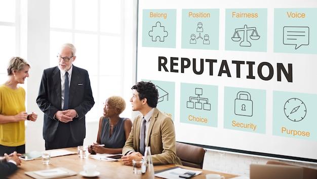Erfolgreiches unternehmenskonzept für die geschäftskooperationsstrategie