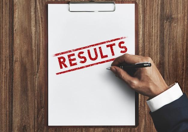 Ergebnisse bewerten fortschritt ergebnis produktivitätskonzept