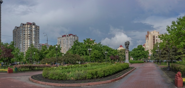Erholungspark auf obolon in der stadt kiew ukraine