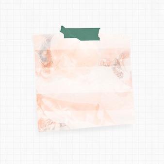 Erinnerung mit orangefarbenem rauchhintergrund und washi tape