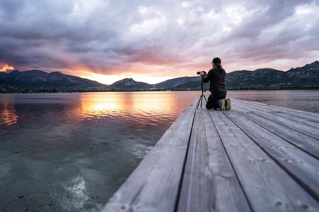 Erleben sie die natur mit dem hobby der outdoor-fotografie