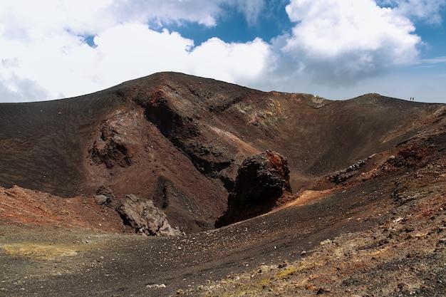 Erloschener vulkankrater