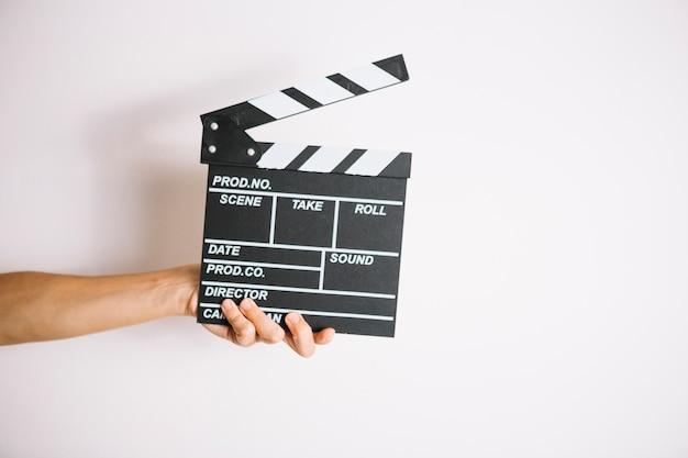 Ernte hand halten filmklappe