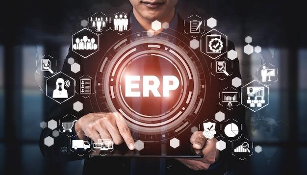 Erp-softwaresystem für enterprise resource management für business resources plan
