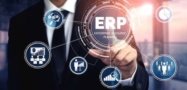 Erp-softwaresystem für enterprise resource management für business resources plan