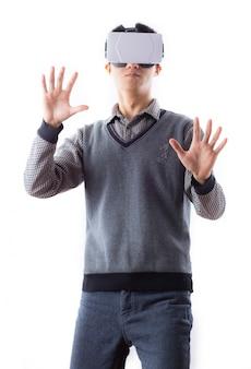 Erreichen berührende einzel glücklich brille