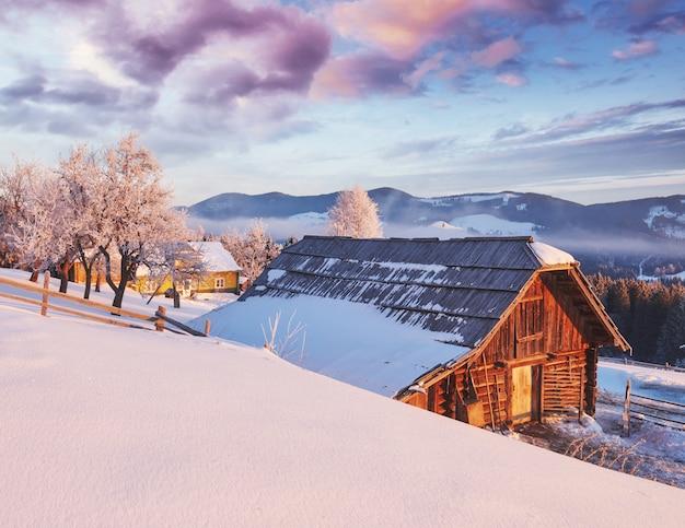 Erstaunliche berge im morgensonnenlicht. karpaten, ukraine, europa.
