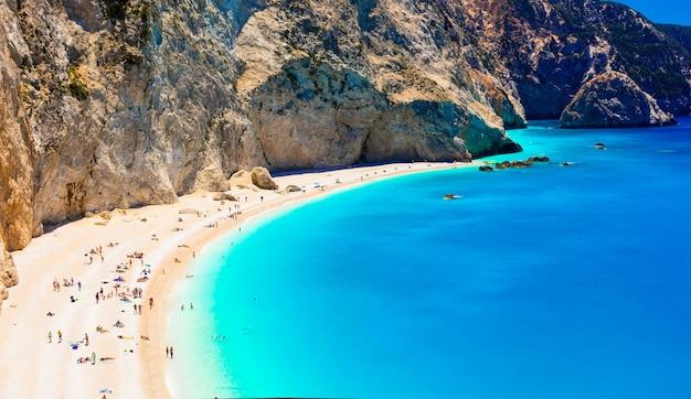 Erstaunliche griechenland-serie - herrlicher strand porto katsiki in lefkada insel