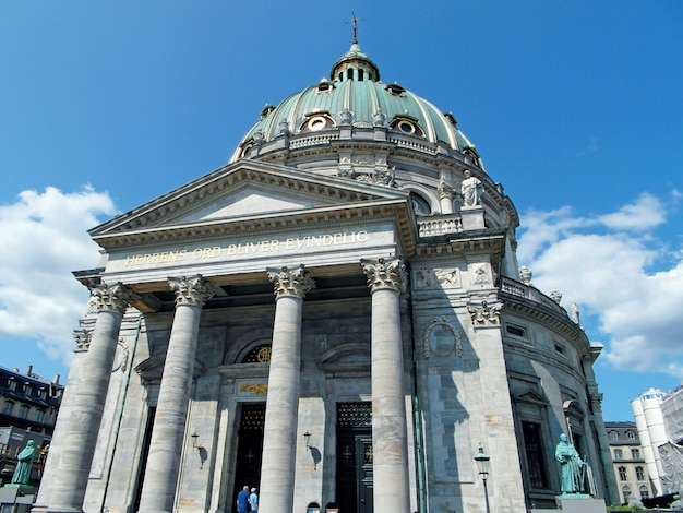 Erstaunliche haube von frederiks kirche oder von marmorkirche in kopenhagen, dänemark, europa