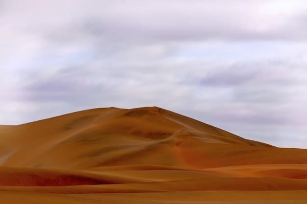 Erstaunlicher blick auf die sanddünen in der namib-wüste. künstlerisches bild. schönheitswelt.