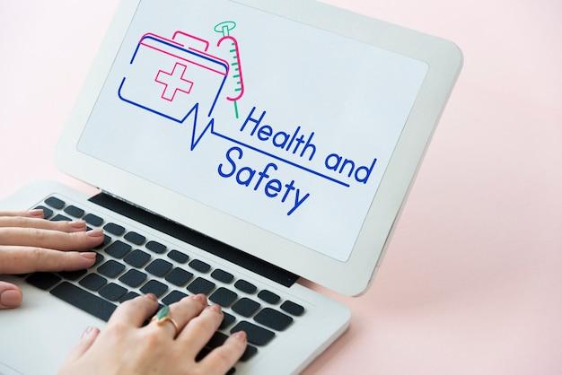 Erste-hilfe-kasten grafik zur behandlung im gesundheitswesen