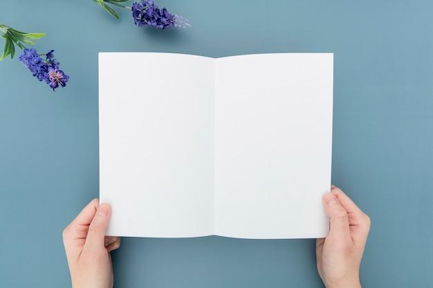 Erstellung von flat-lay-broschüren