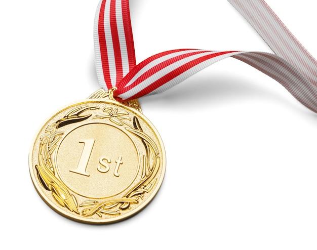 Erster platz, goldmedaille
