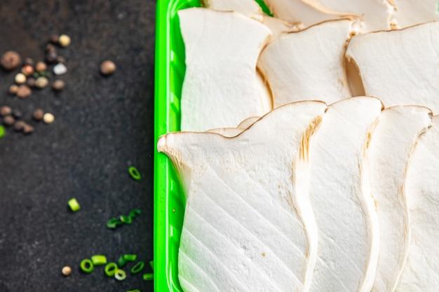 Eryngii slice austernpilz king mushrooms eringi frische mahlzeit snack auf dem tisch kopie raum essen