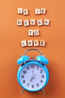 Es ist niemals zu spät.