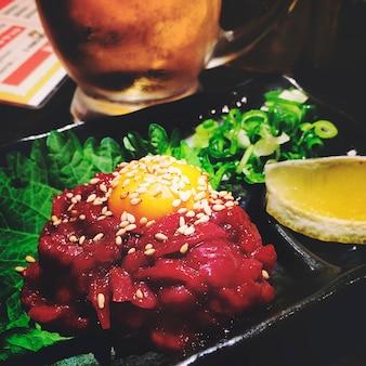 Essen des asiatischen lebensmittel-abendessen-konzeptes