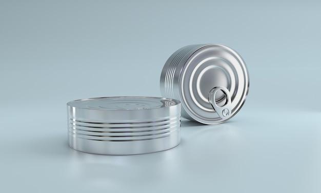 Essen in metalldose Premium Fotos