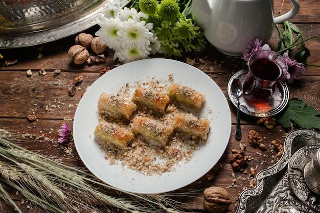 Essen türkisches dessert frühstück tee konzept
