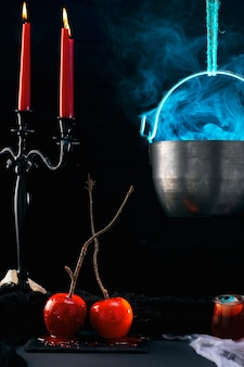 Essensarrangement für die halloween-party