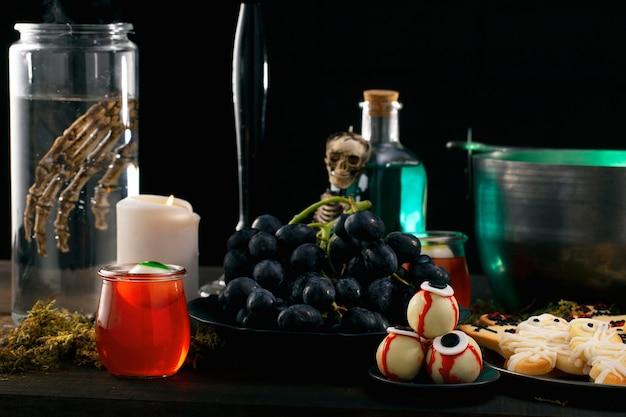Essenszusammensetzung für halloween-partys