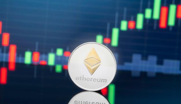 Ethereum und cryptocwurrency, das konzept investiert.