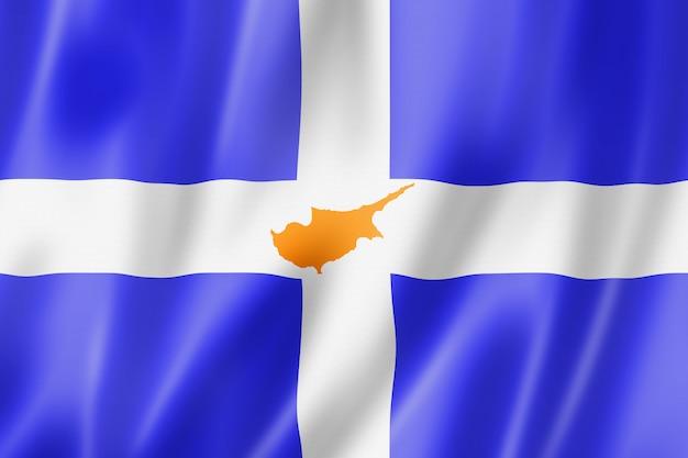 Ethnische flagge der griechischen zyprioten, europa