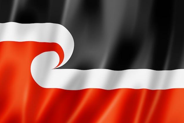 Ethnische flagge der maori, neuseeland