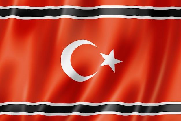 Ethnische flagge des aceh-volkes, indonesien