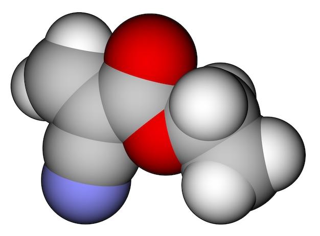 Ethylcyanacrylat ein sekundenkleber mit molekularer struktur