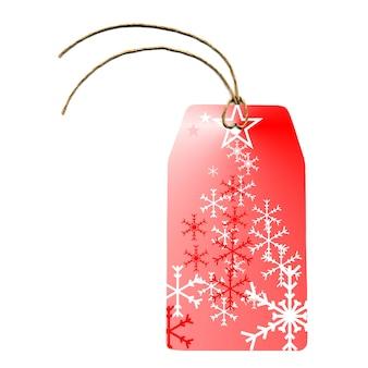 Etikett für weihnachtsanhänger