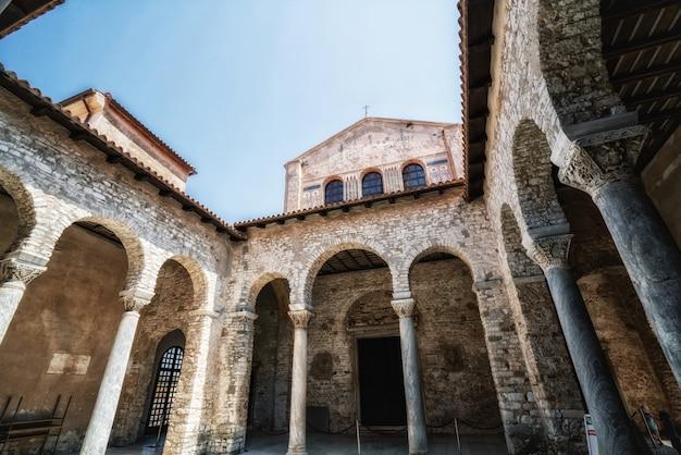Euphrasische basilika in porec, istrien, kroatien.