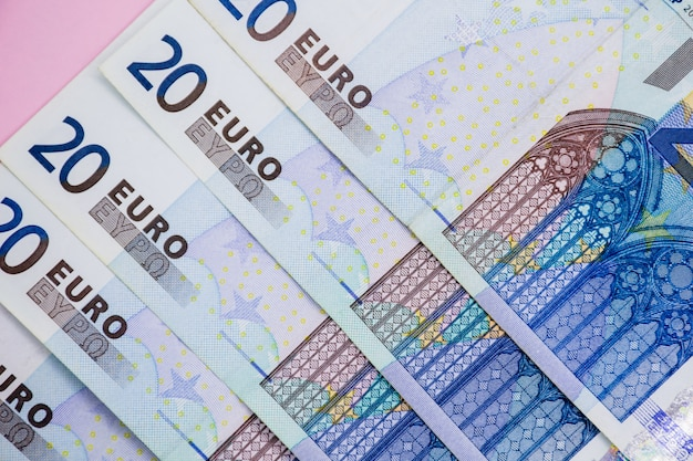 Euro-geld. euro-bargeld. euro-geld-banknoten