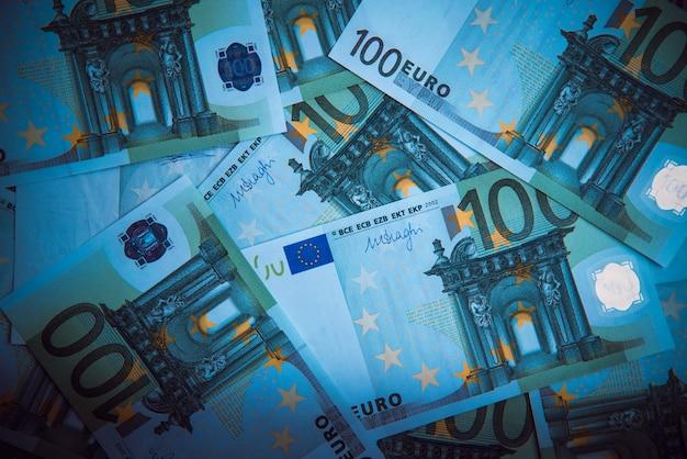 Euro-geld. euro bargeld hintergrund. euro-geld-banknoten.