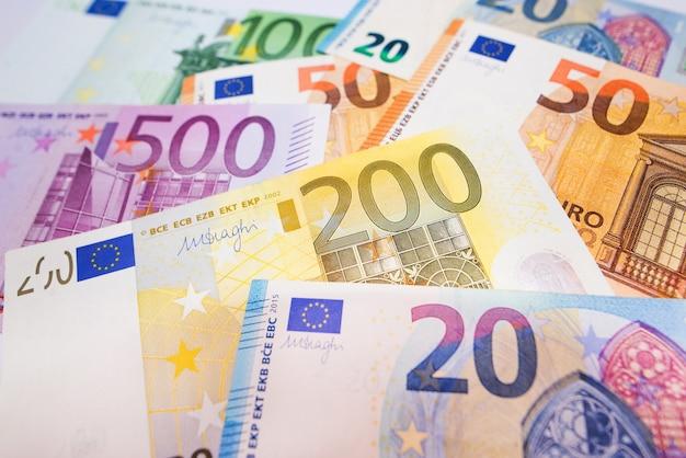 Euro-geld. geldoberfläche. euro textur.