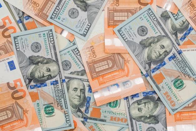 Euro- und dollarnoten