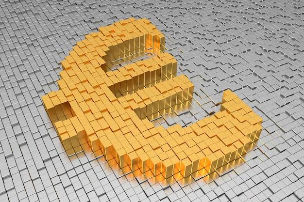 Euro-zeichen-banner. 3d-rendering.