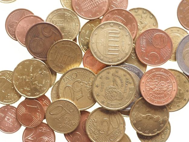Euromünzen isoliert