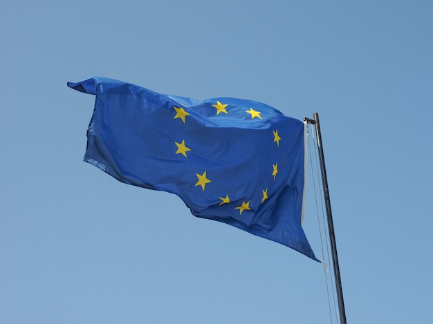 Europäische flagge von europa