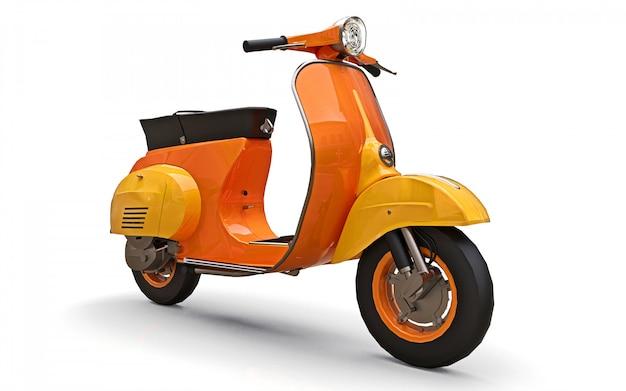Europäischer orange roller der weinlese auf einem weißen hintergrund. 3d-rendering.