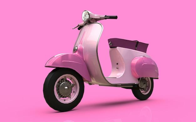 Europäischer rosa roller der weinlese