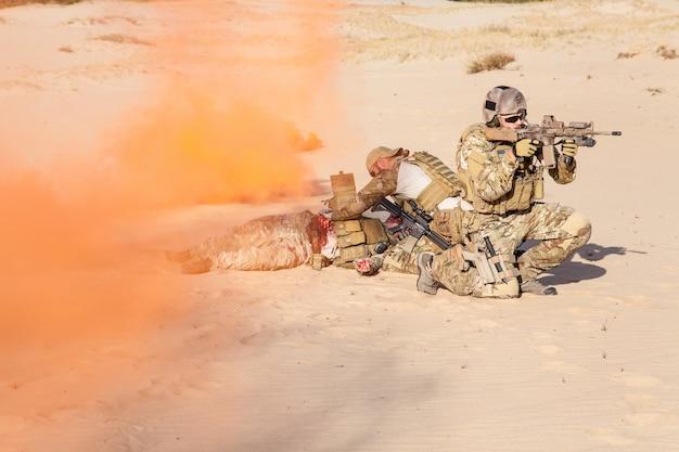 Evakuierung in der wüste