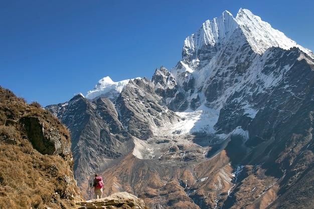 Everest basislager region im winter