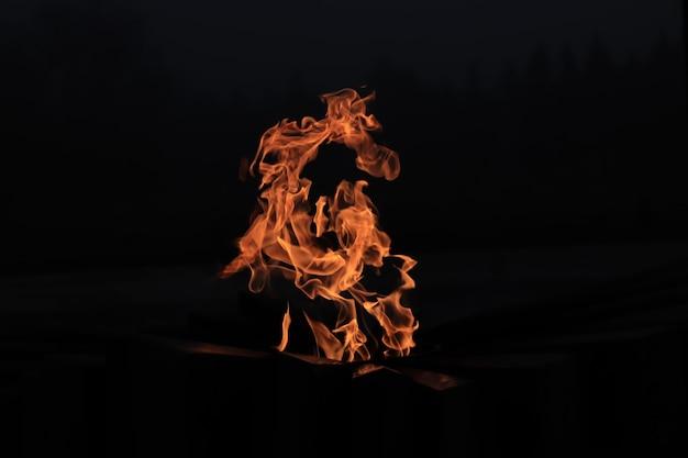 Ewige flamme flamme im dunkeln licht im dunkeln