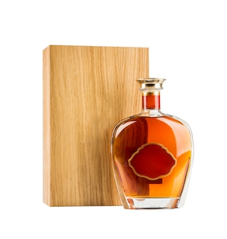 Exklusive cognac-flasche