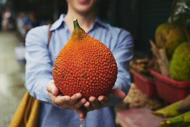 Exotische rote melone