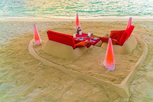 Exotische sandbank romantische küste resort